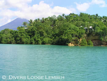 Divers Lodge Lembeh Strait, resort from the bay