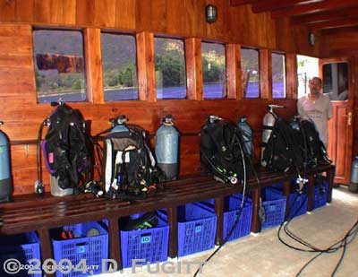 indonesia liveaboard dive deck